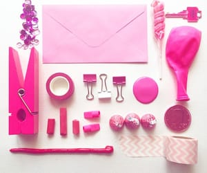 pink, supplies, and things image