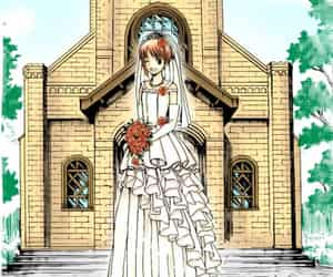 anime, bride, and colour image