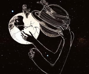 love, moon, and planet image