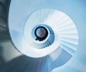 architecture, blue, and spiral image