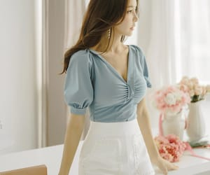 asian fashion, blouse, and kfashion image