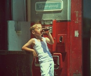 boy, coca cola, and vintage image
