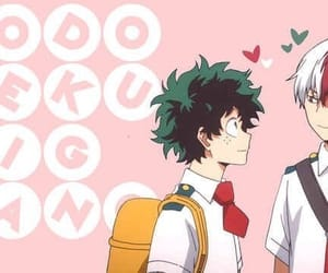 my hero academia, todoroki shouto, and midoriya izuku image
