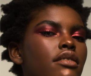 black women, dark skin, and natural hair image