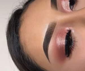 makeup, eyebrows, and eyelashes image