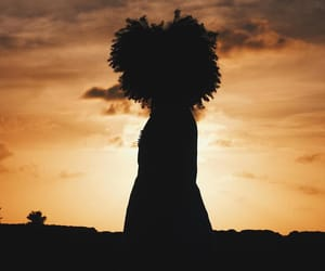 silhouette and afro silhouette image