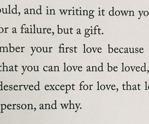 book, first love, and john green image