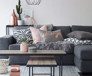 design, gray, and living room image