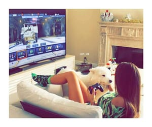 game and girl image
