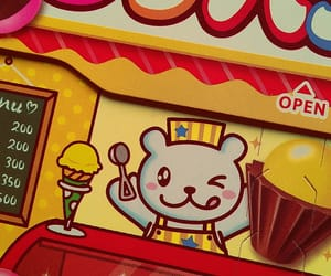 bear, bright colors, and candy image