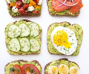 avocado, toast, and petit dejeuner image