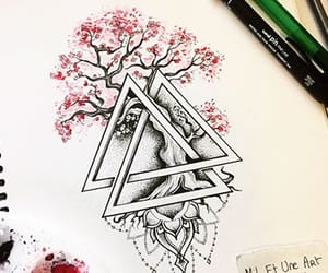 art, picture, and triangle image