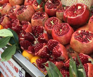 fresh, fruit, and pomegranates image