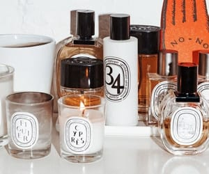 candle, perfume, and beauty products image