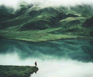 alone, lake, and wood image