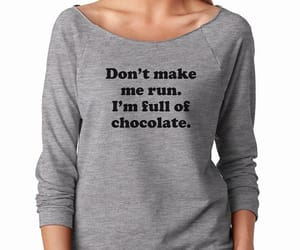 chocolate, tumblr sayings, and hipster women image