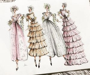 drawing, dresses, and fashion image