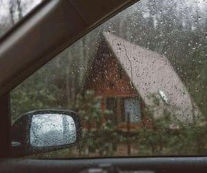 rain, nature, and car image