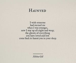 haunted, haunting, and quote image