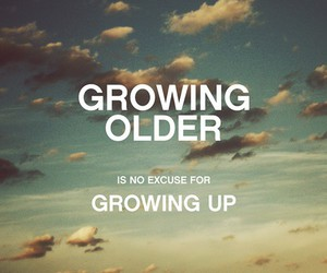 quote, sky, and growing up image