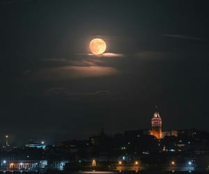 istanbul, moon, and travel image