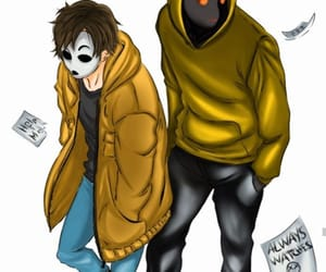creepypasta, másky, and masky and hoodie image