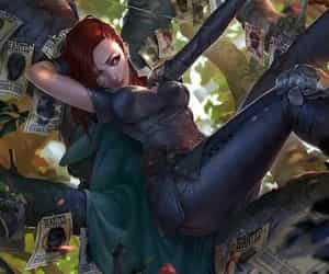 redhead bounty hunter and archer bounty hunter image