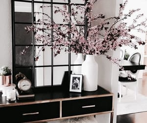 flowers, interior, and decor image