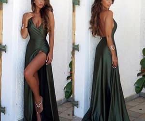 backless dress, fashion, and prom dress image