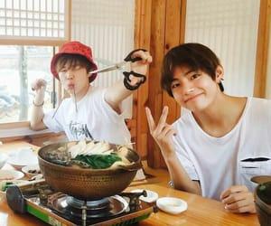 jimin, bts, and taehyung image