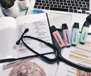 notes, study desk, and school image