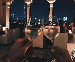 night, couple, and drink image
