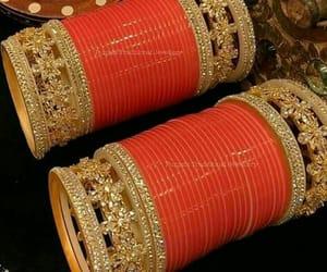 punjabi, red, and wedding image