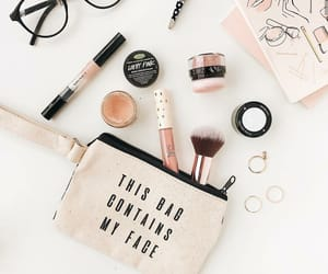 cosmetics, eyeglasses, and face image