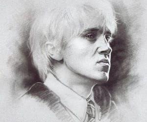 draco malfoy, drawing, and portret image