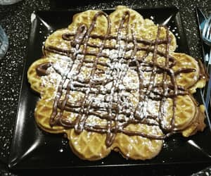 dessert, heart, and icing sugar image