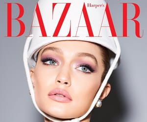 model, gigi hadid, and harper's bazaar image
