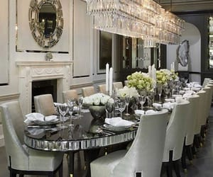 dinner room, fashion, and food image
