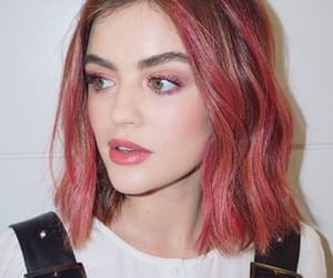 lucy hale, pink, and pretty little liars image