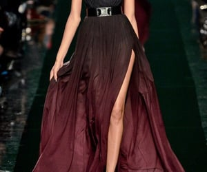dress, elie saab, and black image