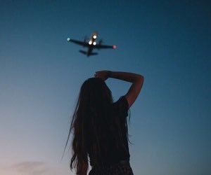 girl, travel, and sky image