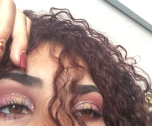 curls, curly hair, and eyes image