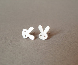 bunny rabbit, unique, and earrings image