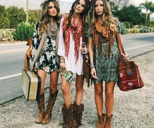 boho, style, and friends image