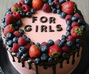 cake, berries, and yummy image