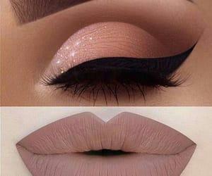 eye, lipstick, and makeup image