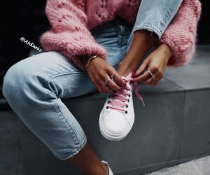 sneakers, denim, and fashion image