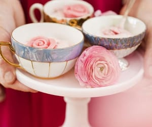 flowers, cup, and rose image