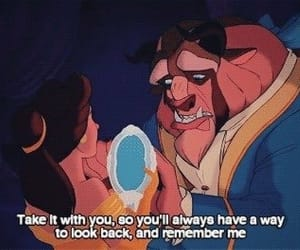 beauty and the beast, love, and disney image