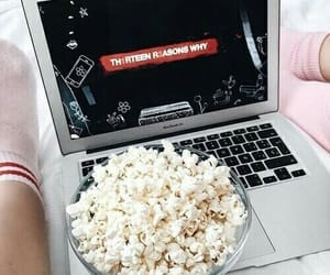 13 reasons why, netflix, and popcorn image